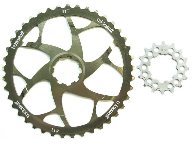 Trickstuff klinge Kassette inkl. kædehjul med 16-tænder guld/sølv (2019) | chainrings_component